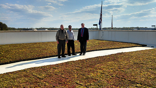 Maryland-Air-National-Guard,-Green-Roof-atop-175th-Wing-Headquarters,-MD-Energy-and-Project-Management